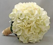 jesienny bukiet ślubny - hortensja