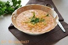zupa z czerwonej soczewicy z makaronem
