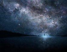 Niebo nocą, w stylu Anime:D