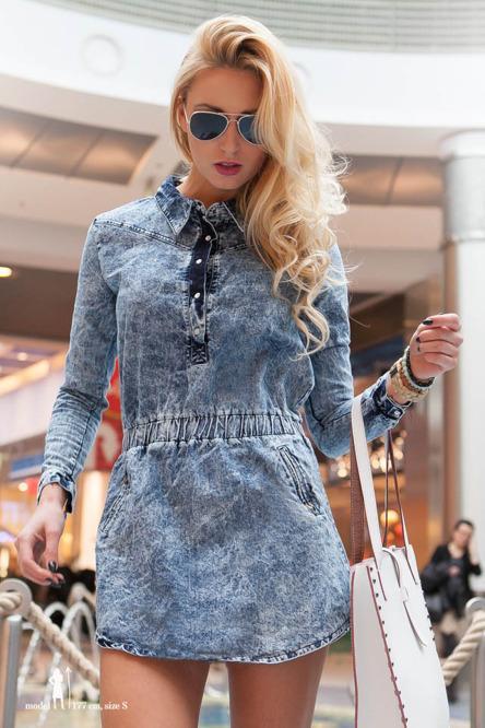 c8cc4df1 Super tunika-sukienka jeansowa dostępna w naszym sklepie intern.. na ...