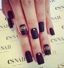 Czarne wzorki na paznokcie ...