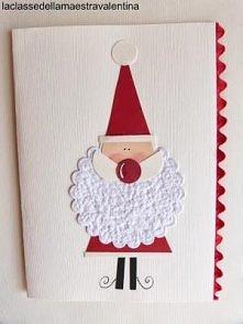 Mikołaj - broda z serwetki :)