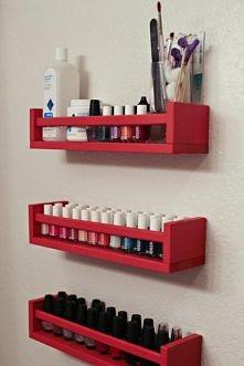 DIY - półka na lakiery