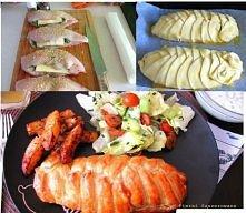 Piersi kurczaka faszerowane szpinakiem pieczone w cieście francuskim Składniki: 6 pojedynczych piersi kurczaka opakowanie mrożonego szpinaku (rozdrobnionego) 2 łyżki kwaśnej śmi...