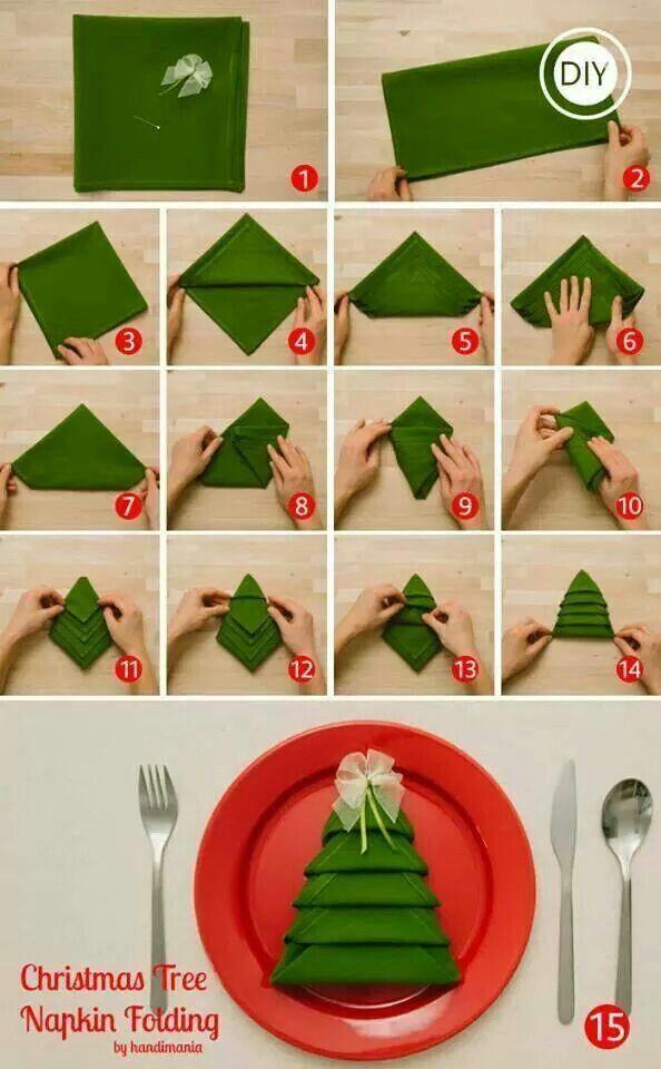 Sposób na świąteczne składanie serwetki