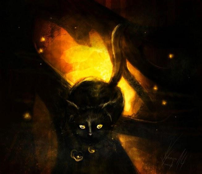Mój rysunek cyfrowy przedstawiający kotka :)