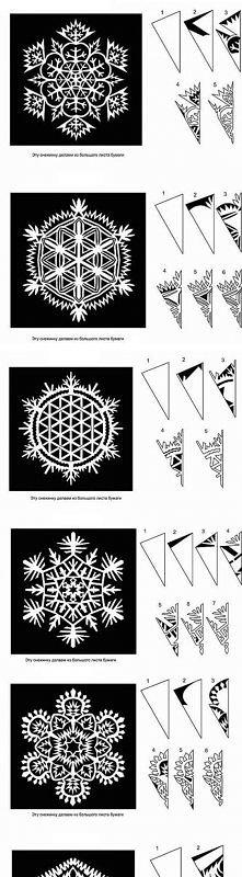dużo wzorów na śnieżki