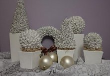 Dekoracje świąteczne (owoc buku)