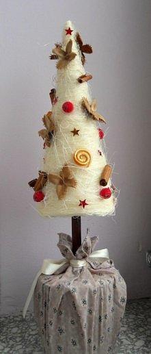 Biała choinka :) Świąteczna...