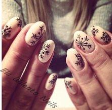 Stylizacja paznokci Ela Wilento - źródło :) Pazurki żelowe, śnieżynki <3
