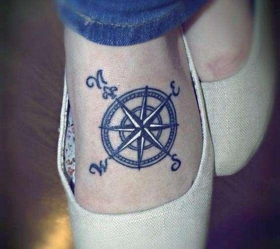 Tatuaż Kompas Na Stopie Na Tatuaże Zszywkapl