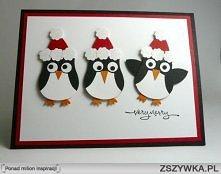 Pingwiny świąteczne
