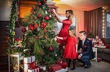 Piękna czerwona sukienka... w sam raz na wigilijną kolację :)