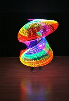 świetlne zjawisko :) zrób to sam Ledowa hula hop - sposób na nudny fitness