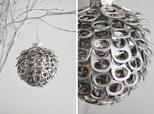 coś dla lubiących recykling- bombka z zawleczek