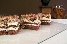 Przekładane ciasto z batonikami Prince Polo  Składniki Biszkopt:  8 jajek 135g cukru pudru 150g mąki 1 łyżka kakao 1/2 łyżeczki proszku do pieczenia  Krem budyniowy:  750ml mlek...