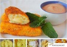 paluszki ziemniaczane z serem składniki:  5 średnich gotowanych ziemniaków 2 jajka 100 g bułki tartej 100 g sera 2-3 łyżki mąki olej roślinny (do smażenia) zmielony czarny piepr...