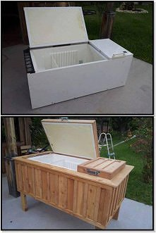 Przerób starą lodówkę w chłodziarkę do Twojego ogródka