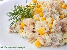 Dzisiaj przepis na smaczną i sycącą sałatkę dla miłośników tuńczyka. Polecam! :) Składniki: 3/4 szkl. kuskus szklanka (mały słoik) pieczarek marynowanych puszka kukurydzy puszka...