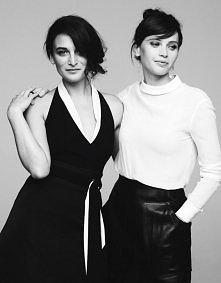 Jenny Slate and Felicity Jones, photographed by Ben Hassett for Variety, Dec ...