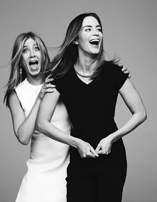 Jennifer Aniston and Emily Blunt, photographed by Ben Hassett for Variety, De...
