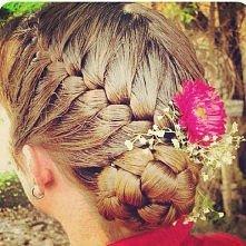 Braid Bun with Flower