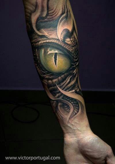 Smocze Oko Na Przedramieniu Na Tattoo Zszywkapl