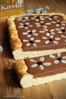 Mazurek czekoladowy.