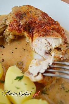 Kurczak w sosie Camembert