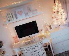 Pokój w świątecznym klimacie.