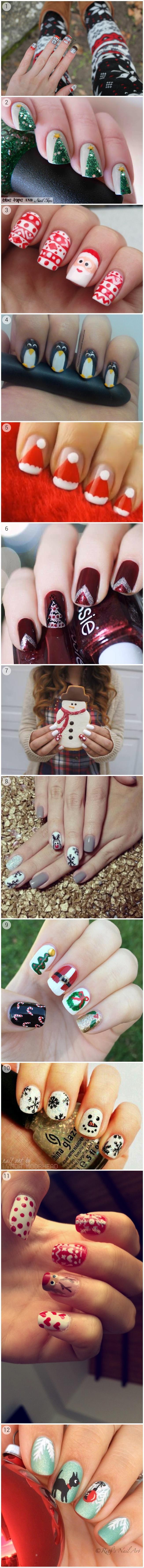 swiateczne paznokcie