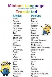 zaczynam uczyć się języka Minionków;)