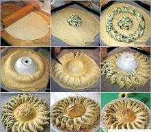 Ciasto ze szpinakiem rzepis na ciasto szpinakowe  Potrzebne będą:  do przygotowania ciasta: 500 g mąki, 95 ml oliwy z oliwek oraz 210 ml ciepłego białego wina i 2 łyżki soli; do...