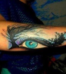oko wzory tatuaży