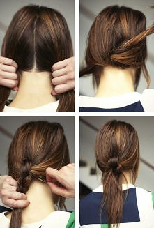 Straight Hair Every Day - Ponytail with Braid