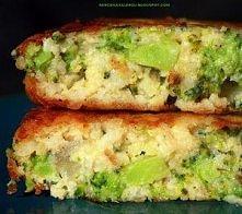 Placuszki z brokułów i kaszy jaglanej