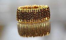 czarno- złote koraliki