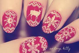 świąteczne paznokcie *.*