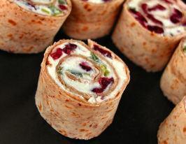 żurawina + feta rollsy