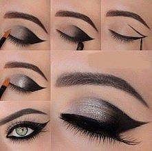 srebrny makeup