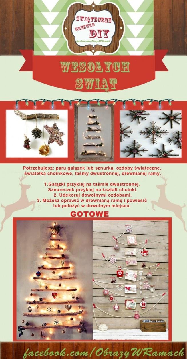 Pomysł na świąteczną choinkę :). Małe mieszkanie to już nie problem! Klik w obrazek po szczegóły!