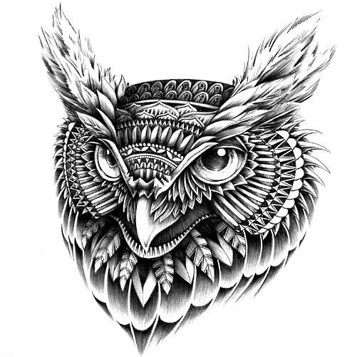 Sowa Na Wzory Tatuaży Zszywkapl