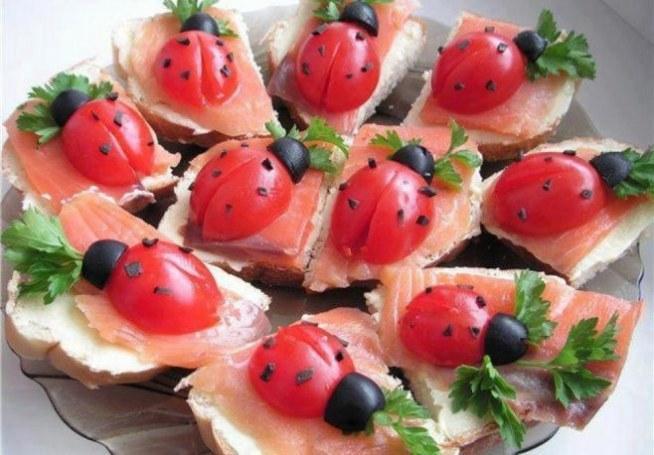Kanapki Z Pomidorowymi Biedronkami Takie Kanapeczki Możesz