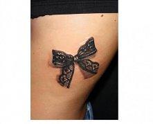 tatuaż 3D- kokardka