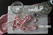 Candy canes vodka Cukierkowe laseczki zmiksować na miazgę, czy jak kto woli, ...