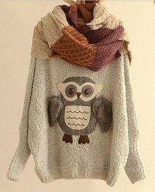 sweterek z sową