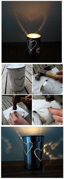Genialny pomysł co można zrobić ze zwykłej metalowej puszki. Chyba spróbuję. :)