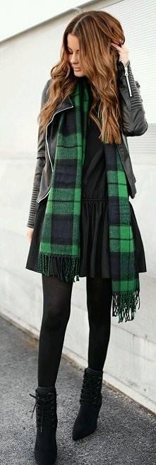 #Green  #black #autumnstyle