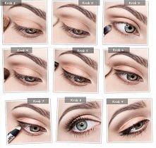 Ten makijaż szczególnie dobrze będzie wyglądał u Pań o niebieskich oczach. Do...