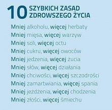 10 zasad zdrowszego życia